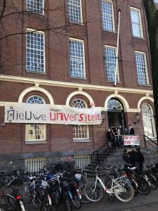 Studentenprotest Nieuwe Universiteit