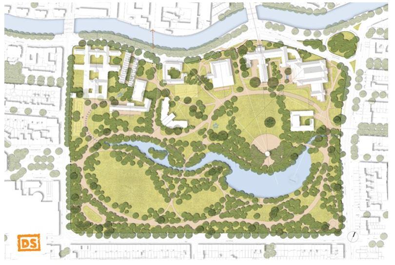 Verdubbeling Oosterpark - na de renovatie