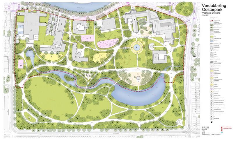 Verdubbeling Oosterpark - voorlopig ontwerp